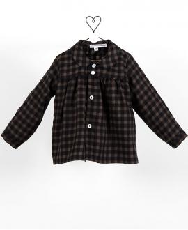 Camisa Baby Niña CASILDA Y JIMENA Vichy Negro