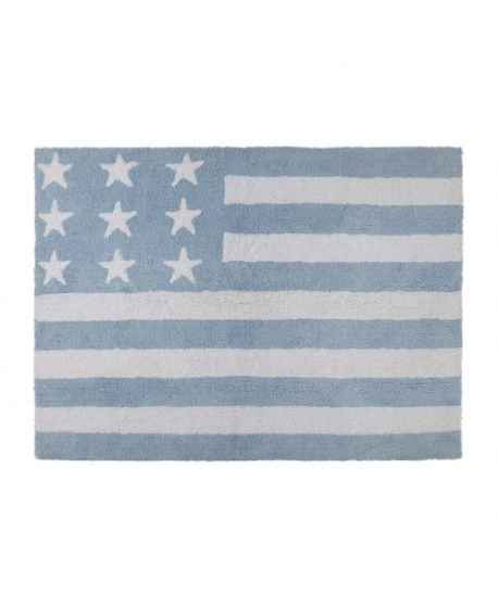 Alfombra Lavable Lorena Canals Flag American Baby Blue