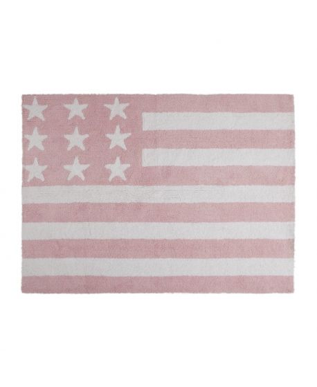 Alfombra Lavable Lorena Canals Flag American Baby Rosa