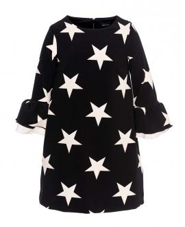 Vestido Niña MONNALISA Negro Estrellas