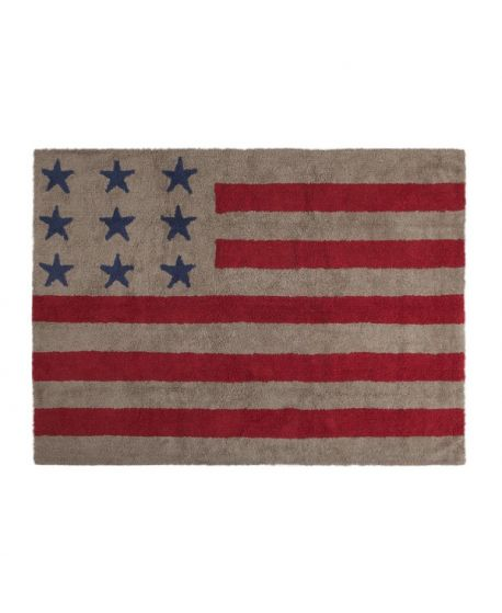Alfombra Lavable Lorena Canals Flag American Linen Red
