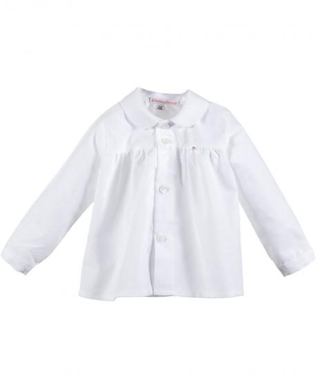Camisa Bebe Niño CASILDA Y JIMENA Oxford Blanca