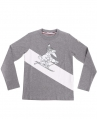 Camiseta Niño MONCLER Gris Ski