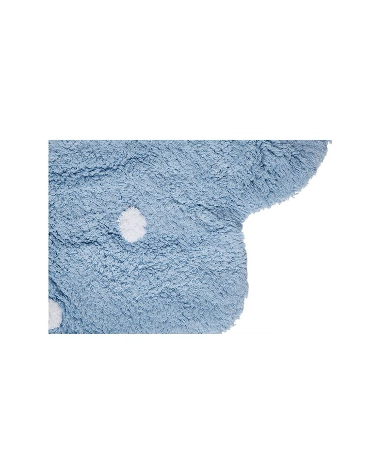 Alfombra lavable lorena canals galletita azul ro infantil for Ikea alfombra azul