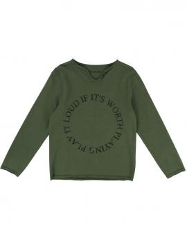 Camiseta Niño ZADIG & VOLTAIRE Cuello Tunecino Texto