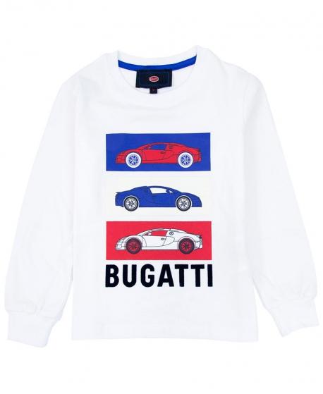 Camiseta Niño BUGATTI Coches Tricolor