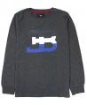 Camiseta Niño BUGATTI Gris Letras