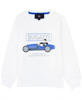 Camiseta Niño BUGATTI Blanca Conductor