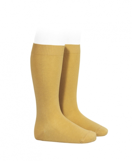 Calcetines Altos CONDOR Punto Liso Curry