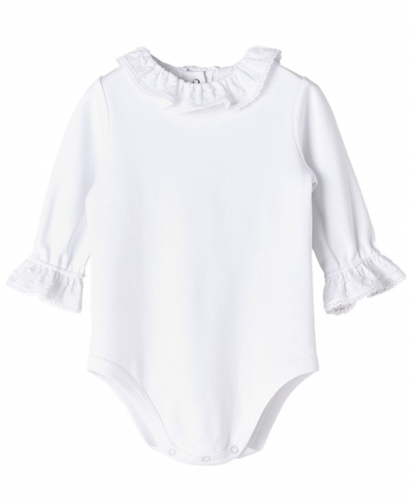 Body Punto Blanco NANOS Bebe Cuello Plumeti