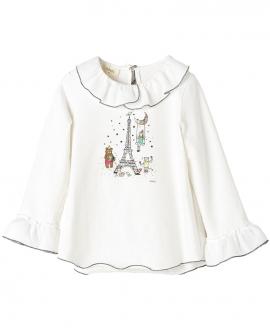 Camiseta Punto Crudo NANOS Niña Torre Eiffel