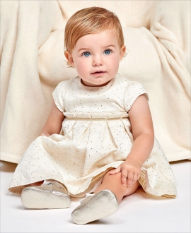 Vestido Bebe Niña TARTINE ET CHOCOLAT Puntos Dorados