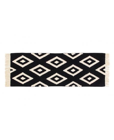 Alfombra Lavable LORENA CANALS Negra Cáctus 80x230