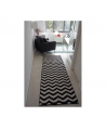 Alfombra Lavable LORENA CANALS Negra Rombos 80x230