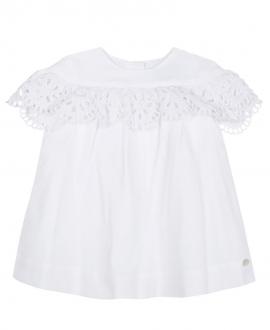 Vestido Bebe Niña TARTINE ET CHOCOLAT  Blanco Bordado