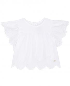 Camiseta Bebe Niña TARTINE ET CHOCOLAT Blanca Perforada