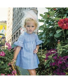 Vestido Bebe Niña TARTINE ET CHOCOLAT Cuadros Azul Riviera