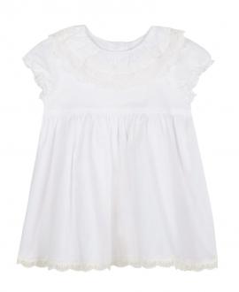 Vestido Bebe Niña TARTINE ET CHOCOLAT Blanco Cuello Encaje