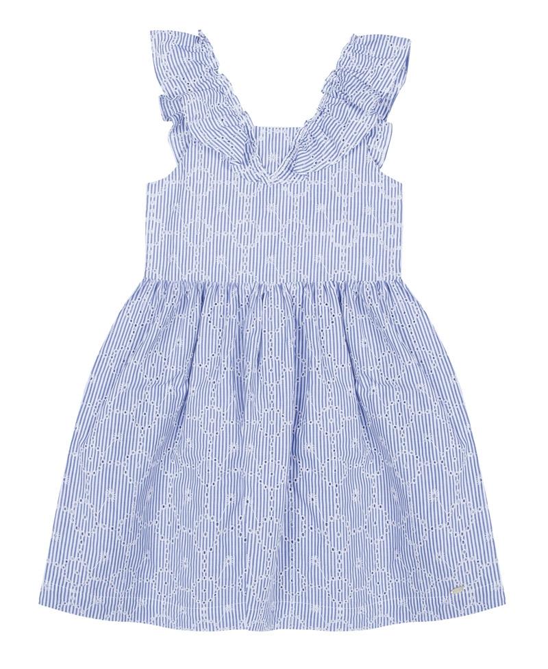 37d3453dd Vestido Niña TARTINE ET CHOCOLAT Bordado Rayas Azul - Ro Infantil