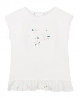 Camiseta Niña TARTINE ET CHOCOLAT Crudo Bordado Flores