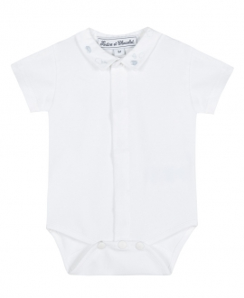 Body Bebe TARTINE ET CHOCOLAT Blanco Cuello Bordado