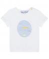 Camiseta Niño TARTINE ET CHOCOLAT Blanca Estampado Pez