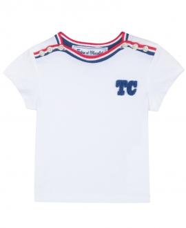 Camiseta Niño TARTINE ET CHOCOLAT Blanca Logo TC