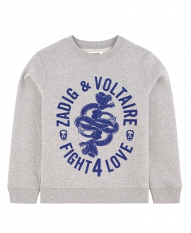 Sudadera Niño ZADIG & VOLTAIR Fight 4 Love Gris