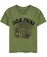 Camiseta Niño ZADIG & VOLTAIRE Caqui Rocks