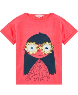 Camiseta Niña LITTLE MARC JACOB Coral Lentejuelas Gafas