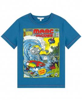 Camiseta Niño LITTLE MARC JACOB Azul Revista