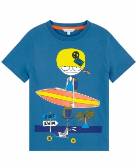 Camiseta Niño LITTLE MARC JACOB Azul Surf