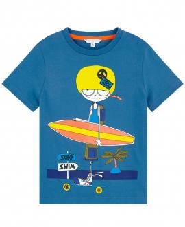 Camiseta Niño LITTLE MARC JACOB Azul Surf