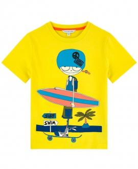 Camiseta Niño LITTLE MARC JACOB Amarilla Surf