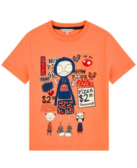 Camiseta Niño LITTLE MARC JACOB Naranja Neón
