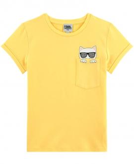 Camiseta Niña KARL LAGERFELD Amarilla Choupette