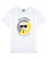 Camiseta Niño KARL LAGERFELD Blanca Iconic