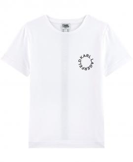 Camiseta Niño KARL LAGERFELD Blanca Letras
