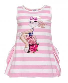 Vestido Niña MONNALISA Rayas Lola Bunny