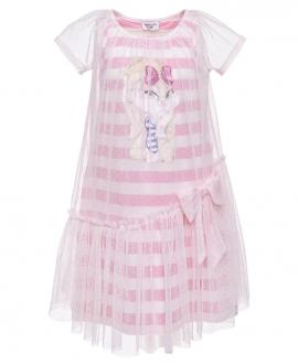 Vestido Niña MONNALISA Rayas Lola Bunny Bi-material