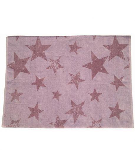 Alfombra Lavable Lorena Canals Vintage Star Lavender + Cojín