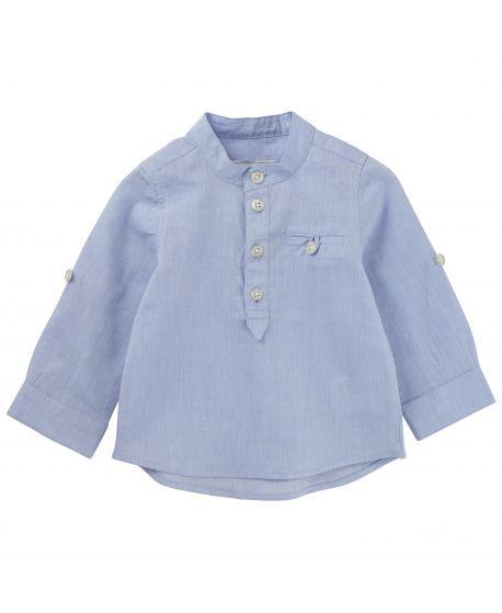 Camisa Tartine et Chocolat Bebé Azul cielo