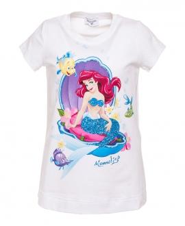 Camiseta Niña MONNALISA Blanca Ariel