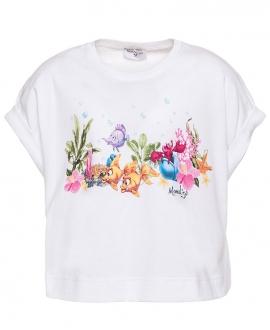 Camiseta Niña MONNALISA Blanca La Sirenita
