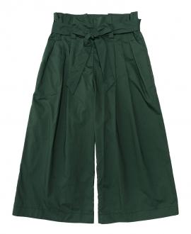 Pantalón Niña MONNALISA Verde Tiro Alto Lazo