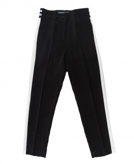 Pantalón Niña MONNALISA Crepe Negro Bandas