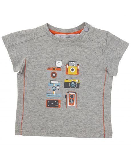 Camiseta Tartine et Chocolat Bebé Niño Gris