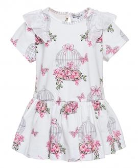 Vestido Bebé Niña MONNALISA Jaulas Rosas