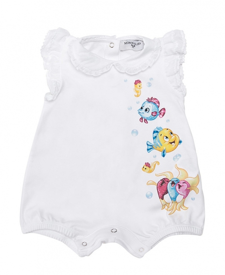 Pelele Bebé MONNALISA Peces La Sirenita