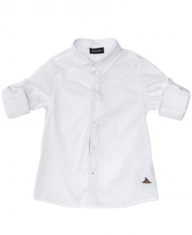 Camisa Niño MONNALISA Popelin Blanco